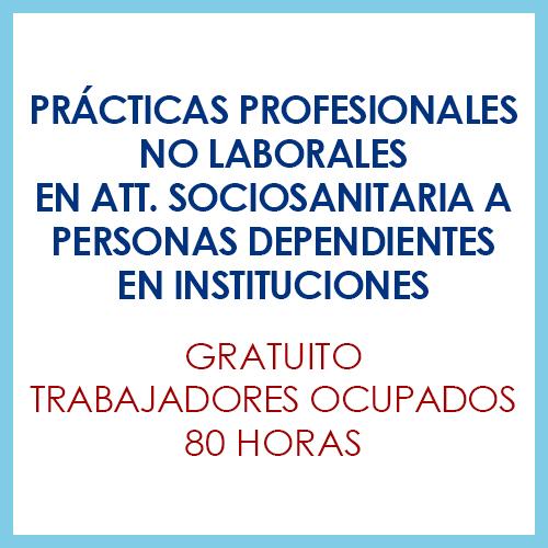 Prácticas Profesionales No Laborales en Att. Sociosanitaria a Personas Dependientes en Instituciones Sociales
